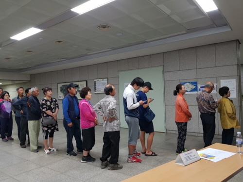 6.13 지방선거 투표시작<31><br><font color=blue>문경시 최종 73.7% 투표율<br><font color=red>